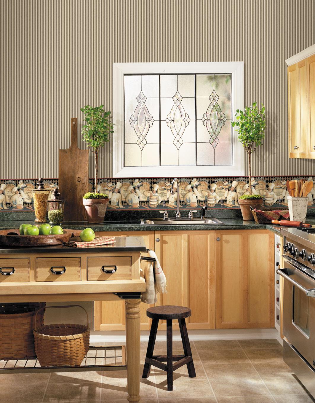 papier peint de cuisine papier peint pour cuisine une touche de joie dans luintrieur idee. Black Bedroom Furniture Sets. Home Design Ideas