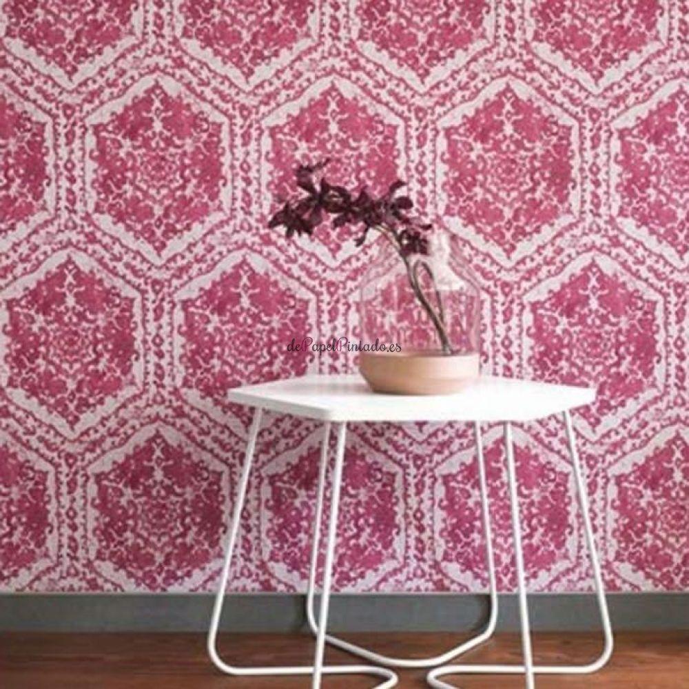 Papel decorativo barato free papel pintado damasco rosa for Papel pintado retro barato